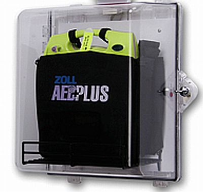 Clear AED Plus Wall Cabinent With Alarm